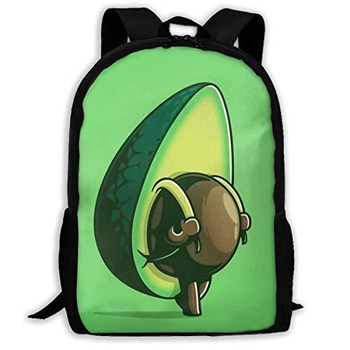 (Unisex Adult School Backpack Cute Avocado Bookbag Casual Travel Bag)