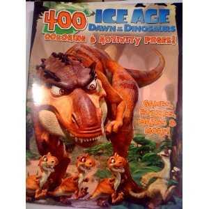 400 page Ice Age Dawn of the Dinosaurs Coloring and Activity Pages