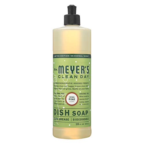 Mrs. Meyer's Clean Day Liquid Dish Soap 6 Pack - Iowa Pine Scent - 16 oz Each