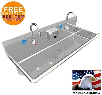 Amazon Com Ada 2 Station 48 Quot Hand Wash Sink Electronic