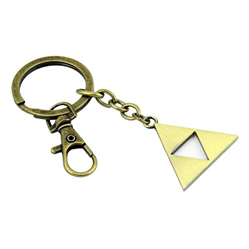 The Legend of Zelda Skyward Sword Triangle Logo Metall Keychain Key (Athena Bronze Pendant)