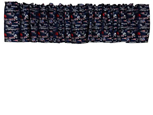 Zen Creative Designs 100% Cotton NFL Sports Team New England Patriots Collage Print Window Valance 58