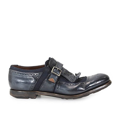 MOCASSINO SHANGHAI GLACE' CALF/LINEN DENIM CHURCH'S