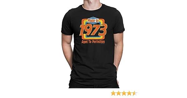 Made in 1973 - Camiseta para Hombre 46th Cumpleaños 70s Seventies Retro T-Shirt