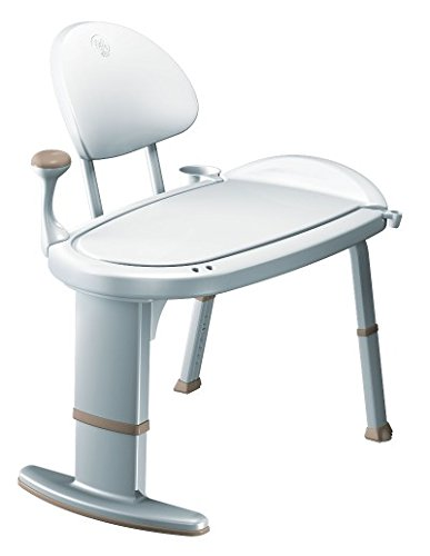 Moen Non Slip Adjustable Transfer Bench, Glacier White (DN7105) by Moen