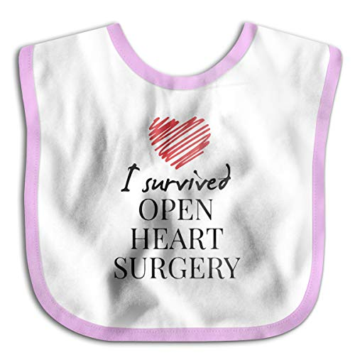 I Survived Open Heart Surgery Infant Toddler Bibs Adjustable Snaps Cute Prints Baby Bib Funny Baby Shower - Gift