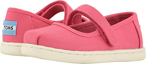 TOMS Kids Baby Girl's Mary Jane (Infant/Toddler/Little Kid) Bubblegum Canvas 11 M US Little Kid