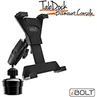 iBOLT TabDock Console - Heavy Duty Expandable and Adjustable Cup Holder mount for all 7 - 10 tablets ( iPad , Nexus, Samsung Tab ). Great for work, personal, and business vehicles