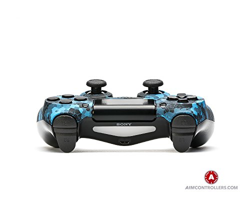 AimControllers PS4 Custom Wireless Controller, Playstation 4 Personalized Gamepad with 4 Paddles - Blue Old 2