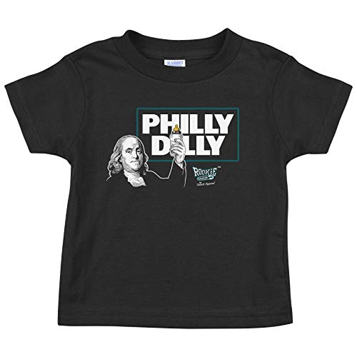 Rookie Wear by Smack Apparel Philadelphia Football Fans. Philly Dilly Black Onesie & Toddler Tee (NB-4T) (Toddler 2T)