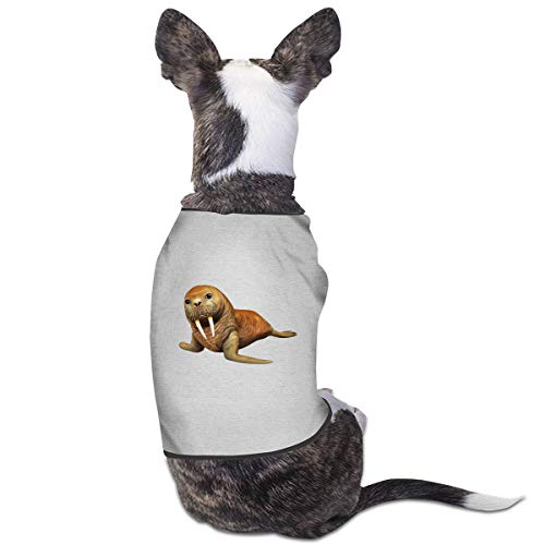 Jazipaty Cute Walrus Pet Clothes Small Dog Cat Pet T-Shirts Breathable Sleeveless Puppy Costumes Summer Custom Vest for $<!--$13.99-->