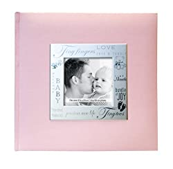 Mbi 9x9 Inch Fabric Expressions Pocket Album, Pink (846611)