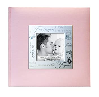 Mbi 9x9 Inch Fabric Expressions Pocket Album, Pink (846611) 0
