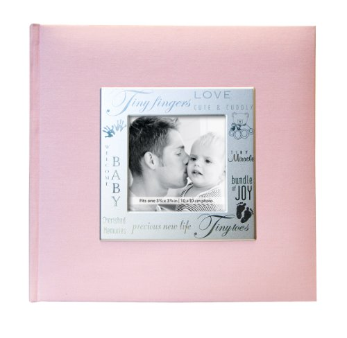 MBI 9×9 Inch Fabric Expressions Pocket Album, Pink (846611)