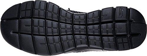Skechers Flex Advantage 2.0-Cravy, Zapatillas de Entrenamiento para Hombre Negro (Black)