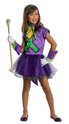 And Superheroes Villains Costumes (DC Super Villain Collection Joker Girl's Costume with Tutu Dress, Toddler)