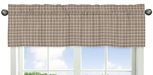 Brown Plaid Window Valance for All Star Sports (All Star Valance)