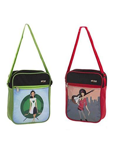 Home Line Women Shoulder Bag, Two Colors (27x20.5x7.5) - Green