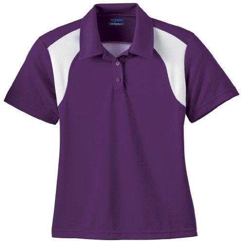 Ash City Ladies E Performance Polo (XXX-Large, Campus Purple/White) by Ash City Apparel