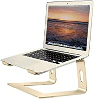Soundance Aluminum Laptop Stand for Desk Compatible with Mac MacBook Pro Air Apple Notebook, Portable Holder Ergonomic...