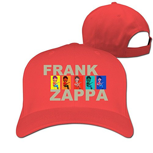 [Runy Custom Frank Zappa Adjustable Hunting Peak Hat & Cap Red] (Frank's Red Hot Costume)