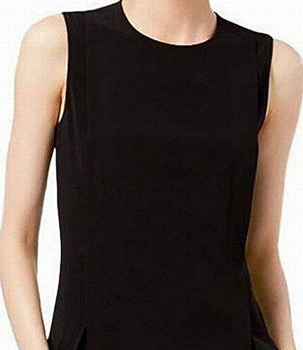 Work to Pleated Black Sleeveless DKNY Wear Dress Womens ECqwWI1X