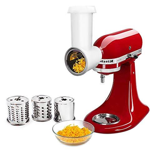 Find Bargain Slicer Shredder Attachment for KitchenAid Stand Mixer,Vegetable Chopper Grater Accessor...