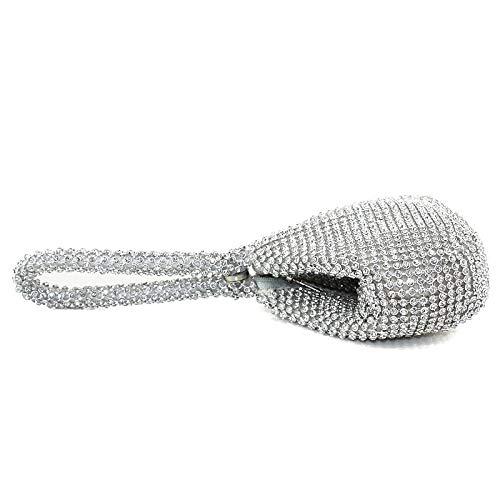 Silver Womens mano Gold Classic Silk capacità Grande Bags Handbags Pearls Tote Qztg Evening della 50BCq