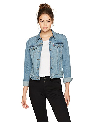Levi's Women's Original Trucker Jackets, Jeanie, Large - Denim Knit Stretch Dress