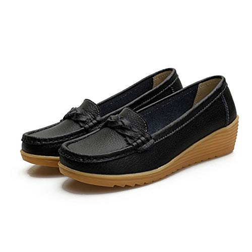 Kurphy Flache Schuhe ultraleichte Fransen-Schuhe für Damen Casual atmungsaktive Slip-On-Schuhe mit Rutschfester Dicker Sohle für Mutter