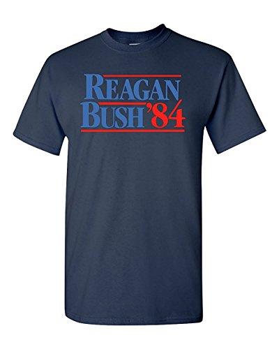 (Reagan Bush '84 Election Classic Adult T-Shirt Tee (Large,)