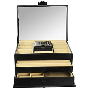 WOLF 308102 Marrakesh Medium Jewelry Box, Black