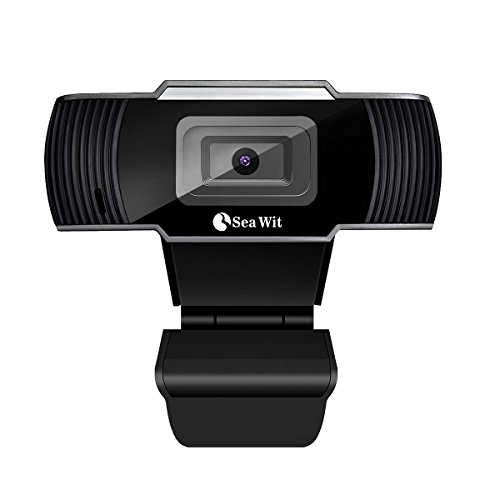HD USB Webcam Mini Camera with Mic for Laptops and Desktop,Sea Wit 30fps,Video Calling and Recording for PC Computer, External Wired Web Camera for Skype You Tube etc (Black)