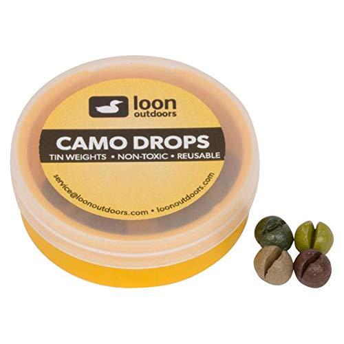 - Loon Outdoors Camo Drops Split Shot   Refill Tub - No.AAA