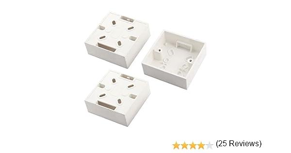 3 piezas 86 mmx86mmx33 mm cuadrado montaje caja trasera para enchufe de pared: Amazon.es: Bricolaje y herramientas
