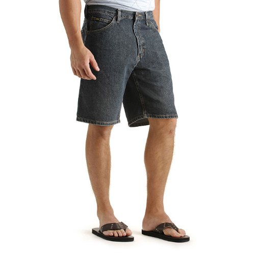 regular fit denim short