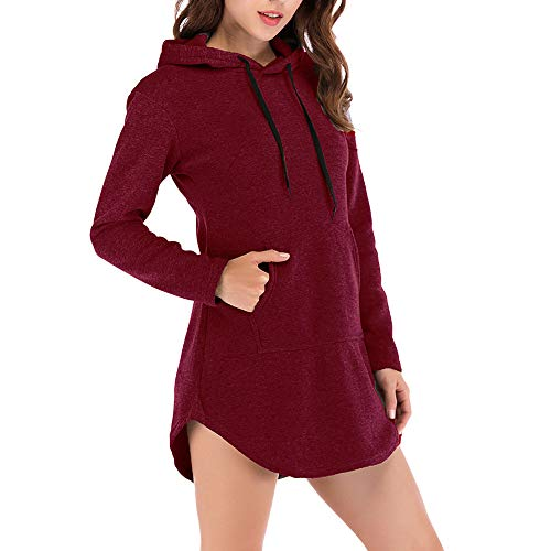Muramba Clearance Women's Casual Hoodie Solid Sweatshirt Pullover Top (Shaggy Lined Hoody)