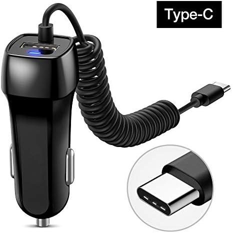 ミレーカーUSBフォンサムスンマイクロUSBタイプCケーブルデータケーブル車の充電アダプタと車の充電器、USB車の充電器、 Charger (Plug Type : Type C Cable)