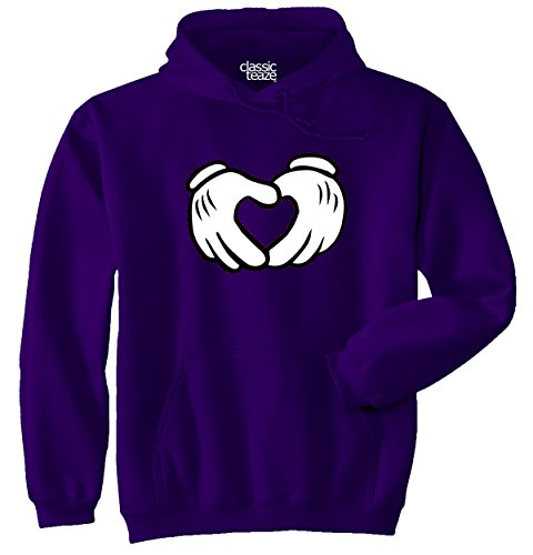 Cute Heart Cartoon Mouse Girlfriend Couple Youth Hoodie - Mouse Mickey Pete Shirt