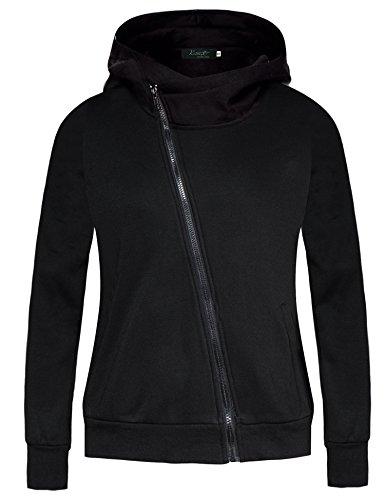 Winter Autumn Zipper Sport Women Hoodies Sweatshirts (Grey) - 7
