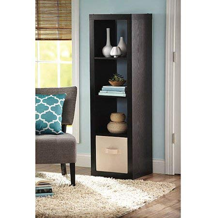 Better Homes and Garden 4-Cube Organizer | Horizontal or Vertical Display in Espresso