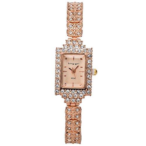 OSS®Reloj pulsera de diamantes dama de la moda de la moda minimalista: Amazon.es: Relojes
