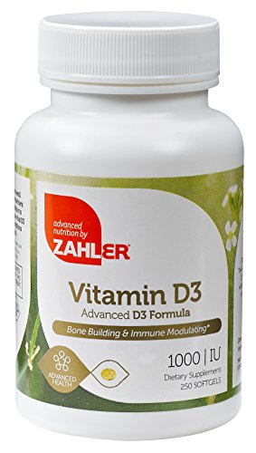 Zahler Vitamin D3 1000IU, An All-Natural Supplement Supporting Bone Muscle Teeth and Immune System , Advanced Formula Targeting Vitamin D Deficiencies, Certified Kosher, 250 Softgels For Sale