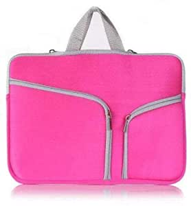 Laptop Bag SAMSUNG For Apple Macbook Pro 13 13.6 Inch Sleeve Case Cover For HP Dell Pink Color (AWDSALES)