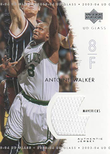 2003-04 Upper Deck UD Glass Basketball Game Gear JERSEY #AW Antoine Walker Boston Celtics