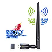 USB WiFi Adapter 1200Mpbs ANEWKODI USB 3.0 Wireless Network Adapter with Dual Band 2.4G/5G 802.11ac High Gain 5dBi Antenna WiFi Adapter Compatible PC/Desktop/Laptop/Mac, Support for Windows 10/8/8.1