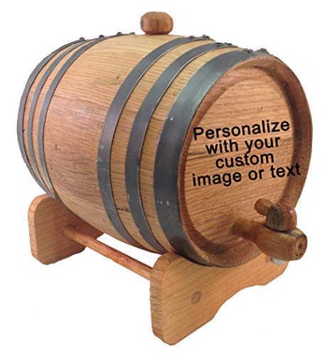 Custom Engraved 3 Liter Oak Barrels for Aging Whiskey, Rum, Tequila, Bourbon, Scotch and Wine (3 liter) by Red Head Barrels (Image #4)