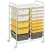 Giantex 15-Drawer Organizer Cart Office School