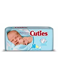 Baby Diaper Cuties Tab Closure Newborn Disposable Heavy Absorbency #CR0001-BG BOBEBE Online Baby Store From New York to Miami and Los Angeles