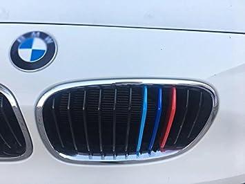 BizTech ® Parrillas de coche Inserciones Rayas decoración para BMW Serie 1 2012 - 2014 F20 F21 11 Parrila M Power M Sport Tech: Amazon.es: Coche y moto